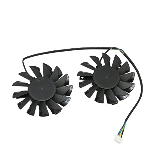 Dual 75mm 4pin PWM Cooling Fan Mounting 52mm For PC GPU VGA Video Card PLD08010S12HH