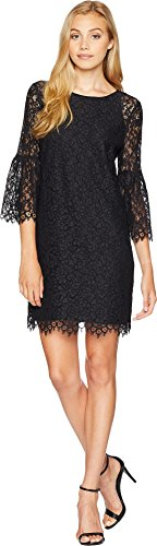 Juicy Couture Women's Floral Lace Dress Pitch Black 8