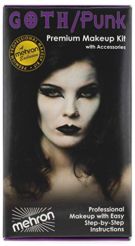 Punk Makeup For Halloween (Mehron Makeup Premium Character Kit)