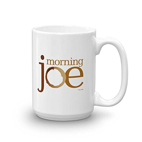 Morning Joe Logo Ceramic Mug, White 15 oz - Official Mug As Seen On MSNBC with Joe Scarborough, Mika Brzezinski and Willie Geist ()