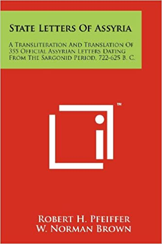 amazon com state letters of assyria a transliteration and
