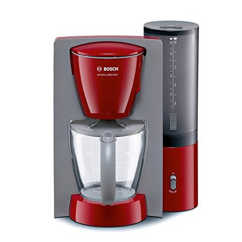 Bosch TKA6034 Kaffeemaschine private collection (1100 W maximal, Aromakreisel, auto-off-Schalter, abnehmbarer Wassertank), rot / hellgrau