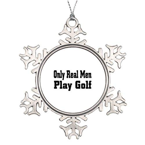 OneMtoss Christmas Snowflake Ornament Xmas Trees Decorated Cart Golf Natural Christmas Snowflake Ornaments