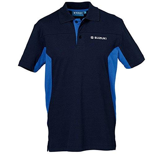 Suzuki Team Blau Polo Shirt kurzarm ! blau
