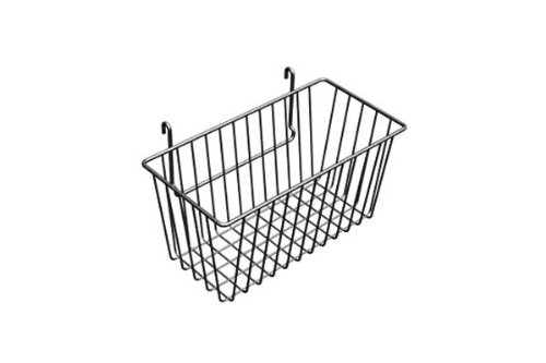 12'' x 6'' x 6''H Narrow Gridwall Basket White 3 Pcs - Work For Grid Panels
