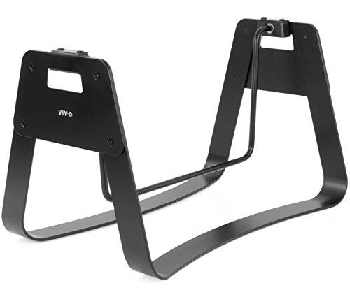 VIVO Black Ergonomic Height Adjustable Standing Foot Rest Relief Platform for Standing Desk...
