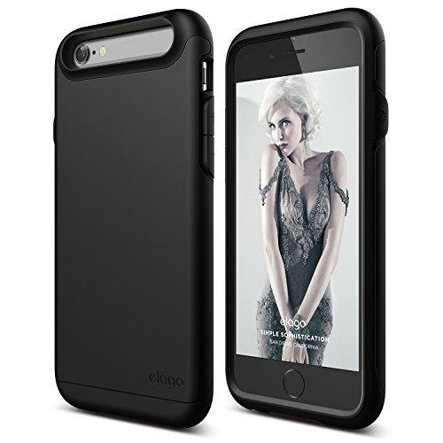 iPhone 6S Case, elago [Duro][Matte Black / Soft feel Black] - [Premium Armor][Heavy Shock Absorption][Dual Layers] - for iPhone 6/6S