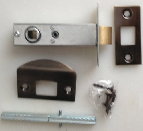 Antique Brass Heavy Duty Tubular Latch Retrofit kit - Fit Your Antique Knobs in Modern Doors + Spindle