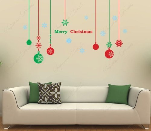 Cheap  Christmas balls - Christmas Decals- Beautiful Tree Wall Decals for Kids Rooms..