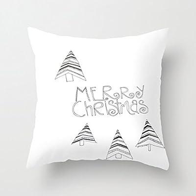 LAZAMYASA Christmas Snowman Cushion Cover Case Pillow Custom Zippered Square Pillowcase 18x18