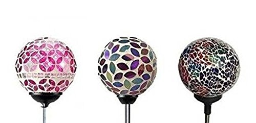 Mosaic Globe Solar Lights in US - 3