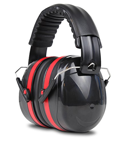 Cyber Acoustic Professional Safety Heavy Duty Ear Muffs for Hearing Protection and Noise Reduction for Air Traffic Ground Support, Construction Work, Hunting/Shooting Ranges, and more (ACS-340) - Racing Ear Plugs