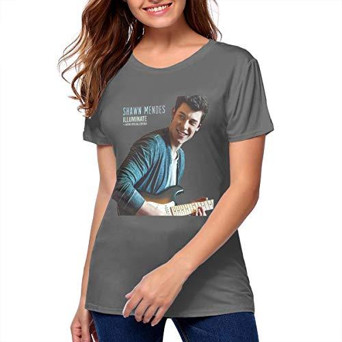 (Shawn Mendes Illuminate Classic Round Neck Short Sleeve T Shirt Unique Women's T-Shirt Deep Heather)