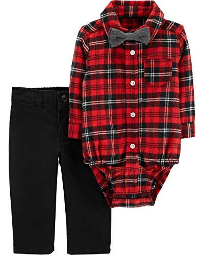 (Carter's Baby Boys' 3 Piece Plaid Dress Me Up Set 12 Months)