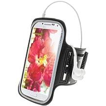 iGadgitz Black Reflective Anti-Slip Neoprene Sports Gym Jogging Armband for Samsung Galaxy S4 IV I9500 I9505 Android Smartphone Cell Phone