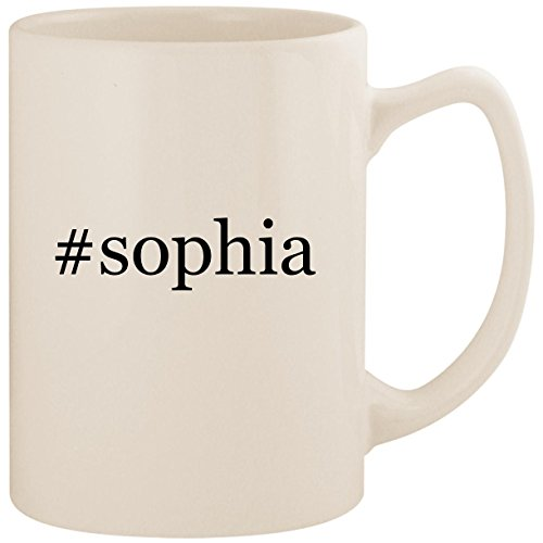 #sophia - White Hashtag 14oz Ceramic Statesman Coffee Mug Cup