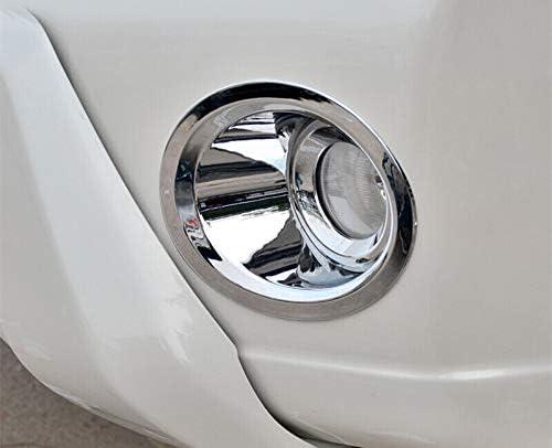 HOTRIMWORLD ABS Chrome Front Fog Light Lamp Trim Cover 2pcs for Toyota Prado FJ150 2014-2017