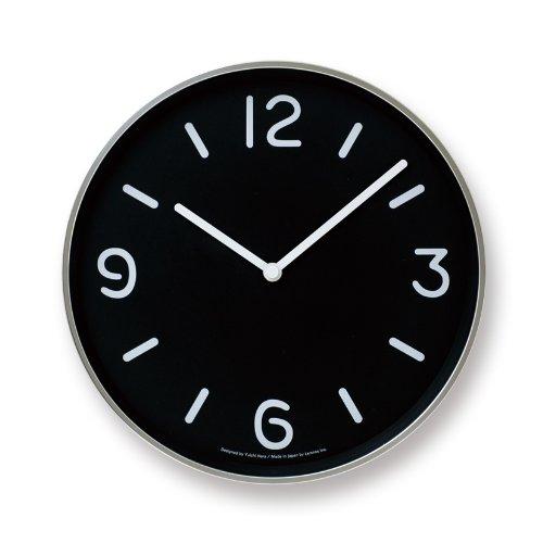 Lemnos MONO Clock ブラック LC10-20A BK B004UIT8C4 ブラック ブラック