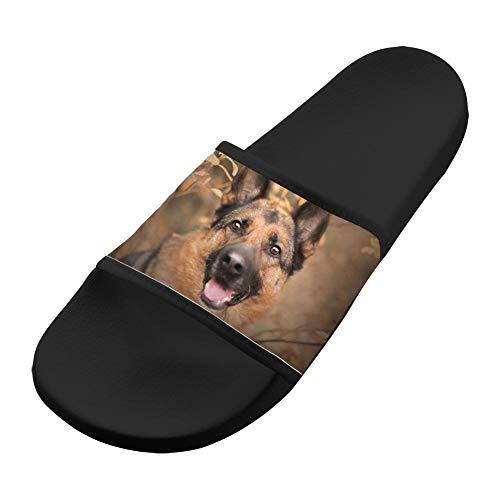 Slippers German Black Sandals Sandals Comfortable Dog Non Slip Men Women amp; Shepherd Casual Soft 0TwTd