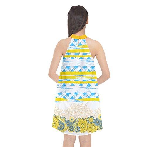 CowCow - Camiseta sin mangas - para mujer Yellow & Sky Blue