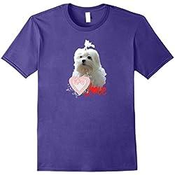 Maltese Dog Lovers T-shirt Puppy Fan Gift Heart Love Pet