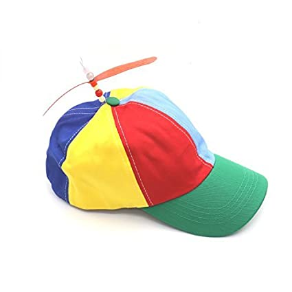 2f5203f549919 Amazon.com  Rugjut Multi-Color Propeller Helicopter Unstructured Baseball  Cap for Women Men  Toys   Games