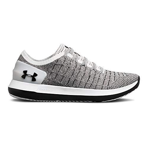 Under Armour Women's Slingride 2 Sneaker, White (105)/Black, 8 ()