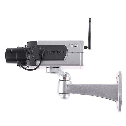 KKmoon IP Cámara Simulada Falsa Inalámbrica, Sensor de Detección de Movimiento, Motorizado Movimiento Pan