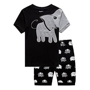 Dolphin&Fish Little Boys 100% Cotton Short Pajamas Toddler Clothes Kids Pjs Set