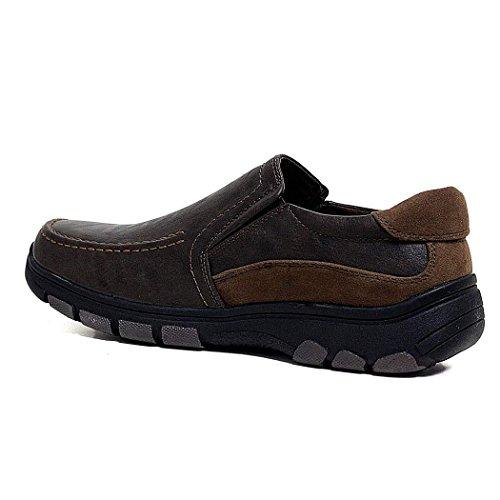Forrado de Velcro Zapatos Cordones Suede Cómodos o Cordones Cin Cuero Det Tan de Ligero Hombres Con pEdxSrndq