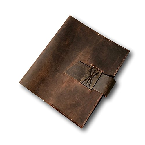 Vintage Brown Leather Journal Wrap by Kauri Design | Genuine Buffalo Leather Journal, Diary, and Notebook Cover - Protect Your Writings, Poems, and Notes