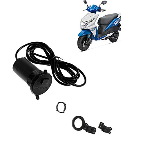 AutoKraftZ Waterproof Without Switch Phone Mobile Charger for Bike/Cycle Handle Honda Dio Bike Mobile Charger