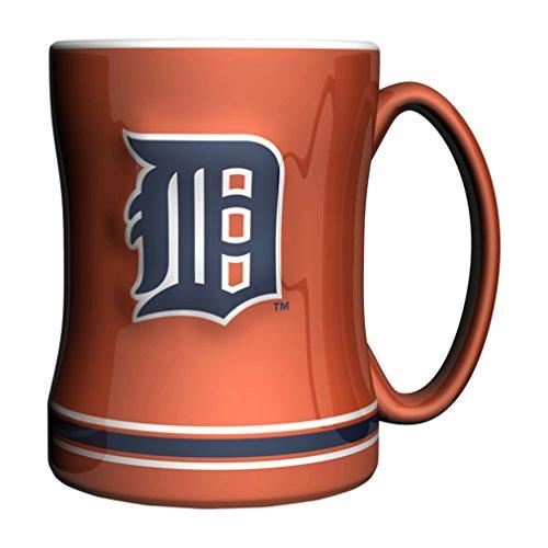 MLB Detroit Tigers 14-ounce Sculpted Relief Mug Alternate Color, Orange