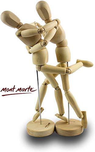 MONT MARTE Mannekin Male 30cm in Acetate Box wooden Puppet Body Doll Mannequ