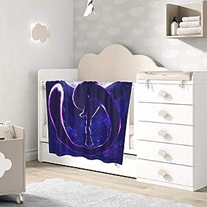 AOOEDM Baby Blanket Anime Mewtwo Toddler Kids Blanket Super Soft Baby Blankets Cozy Crib Lightweight Comforter…
