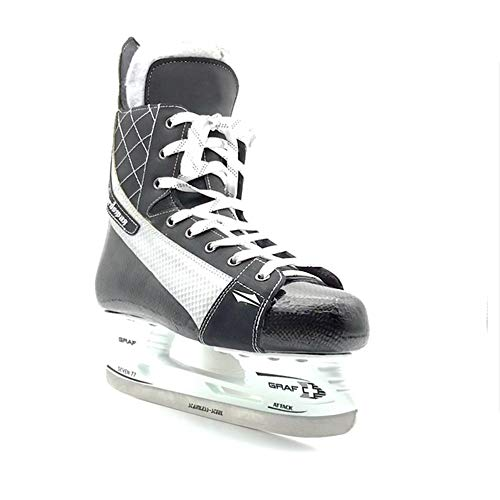 SEADOSHOPPING Fixed Size Integrated Carbon Fiber Ice Team Hockey Skates Shoes