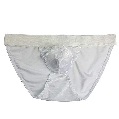 3e9c302e6237 Sexy Gay Underwear Men's Ultr-Thin Man Underpants Breathable Soft White