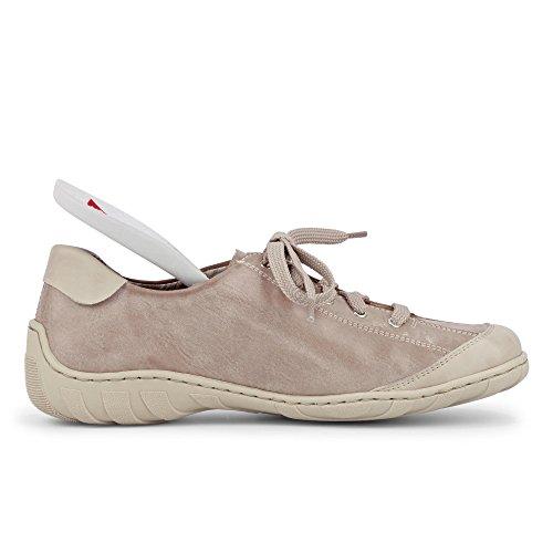 Rieker M3724-80 Glace / Acier (gris) Baskets Femme Beige