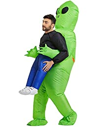 Inflatable Costume | Inflatable Alien Rider Costumes for Adults Or Child | Halloween Costume Cosplay Party (Adult)