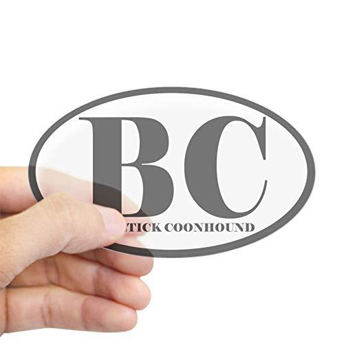 CafePress BC Abbreviation Bluetick Coonhound Oval Sticker Oval Bumper Sticker, Euro Oval Car Decal