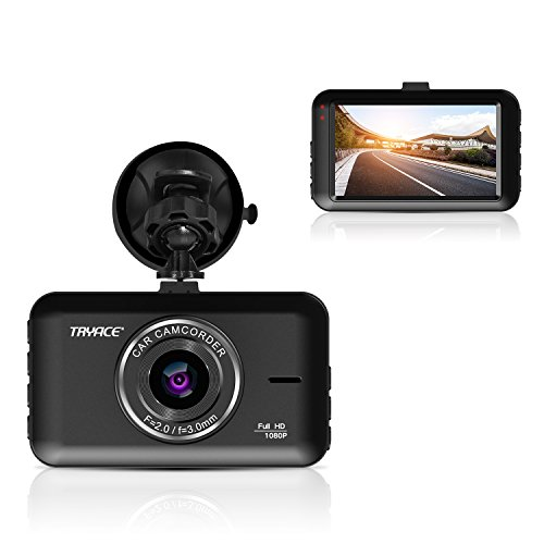TryAce Dash Cam FHD 1080P Car DVR Dashboard Camera with 3'' LCD Screen Parking Mode, WDR, G-Sensor, Loop Recording and Motion Detection Night Vision Car Recorder by TryAce