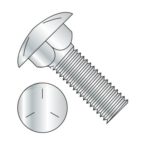 Quantity: 625 Fully Threaded//Steel//Zinc 1//4-20 X 3 1//2 Carriage Bolts Grade 5