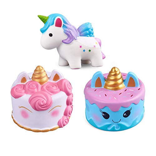 (ModFL Jumbo Unicorn Cake Slow Rising Squishies Kawaii Cream Scent Kids Party Toys Pack of)