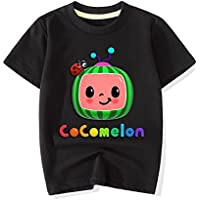 Cocomelon Kids Favorite Cute Children's top Summer Short Sleeve Outfit Cotton Casual Outdoor Shirt