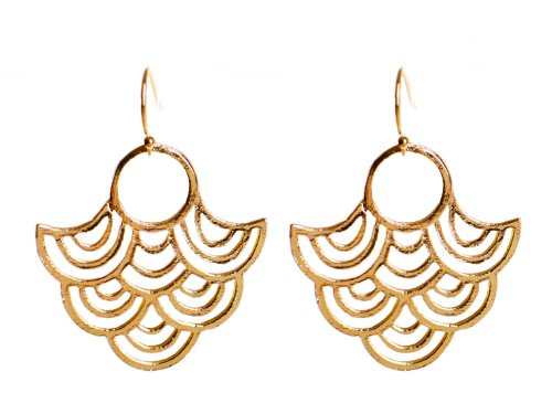 Large Statement Earrings, Peac