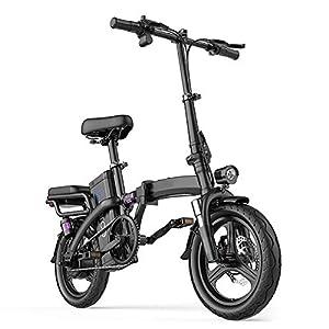 41TInbncEML. SS300 Folding Bike Elettrico, Display LCD 400W Del Motore Velocità Massima 25 Km / H, Sedile Regolabile, Portable Bicicletta…