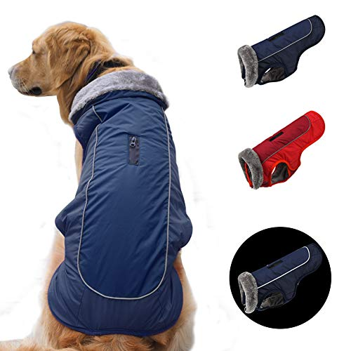 SCPET Dog Winter Coat Cozy Waterproof Windproof Vest Winter Coat Warm Dog Apparel Cold Weather Dog Jacket XS-3XL