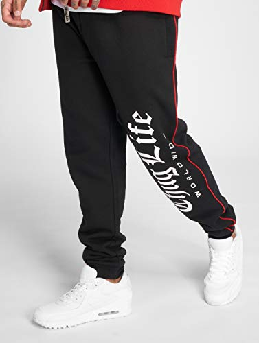 Hombres Negro pantalón Thug Blaze Deportivo Life Pantalones CYxwxgqF5