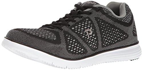 Propét Propet Mens TravelFit Walking Shoe Black/Grey
