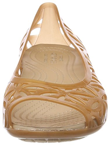 Crocs Isabella Jelly II Flat Women Sandals Gold (Dark Gold/Gold) oqeMrMqSR